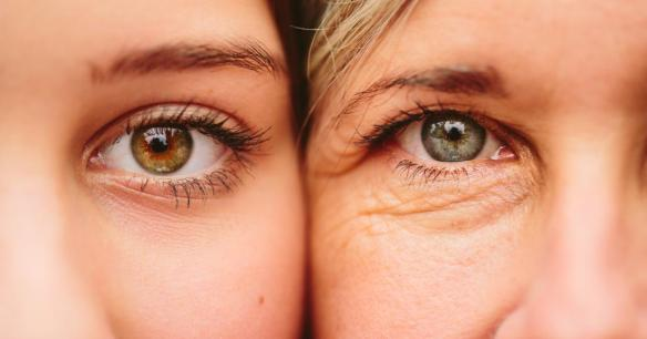 young-woman-and-older-woman-with-faces-side-by-side